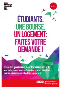 Affiche Dossier Social Etudiant 2021-22