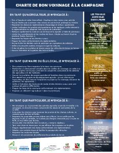 Charte voisinage Eure Affiche A4