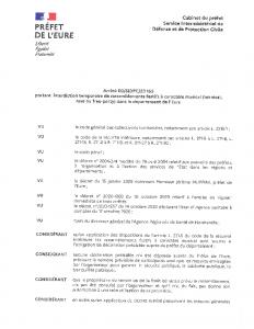 Arrêté D3-SIDPC-20153 portant interdiction temporaire de rassemblement festifs à caractère musical (teknival rave ou free-party) dans le département de l'Eure
