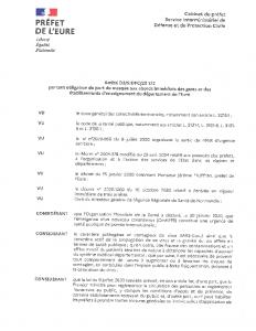 Arrêté D3-SIDPC-20172 portant obligation du port du masque aux abords immédiats des gares et des établissements d'enseignement du département de l'Eure