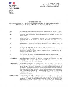 Arrêté D3-SIDPC-20178 portant obligation du port du masques aux abords immédiats des centres de loisirs et des lieux d'accueil des jeunes enfants dans el département de l'Eure
