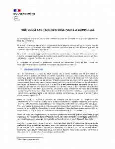 Protocole sanitaire commerces