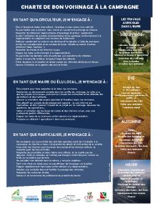 Charte Bon Voisinage Eure Affiche A3